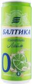 Пивной напиток балтика №0 0% 0.33 л б/алк лайм ж/б