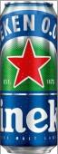 Пивной напиток хейнекен 0,43л 0,0% светлое ж/б